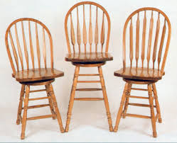 amish made swivel top counter stools and bar stools made of solid