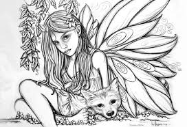 hard fairy coloring page hard coloring pages