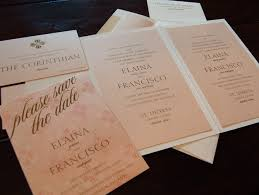 bilingual wedding invitations pink and gold bilingual wedding invitation chic ink