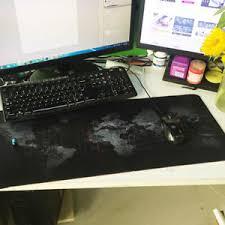Gaming Desk Mat Fashion Large Anti Non Slip World Map Mouse Pad Computer Gaming