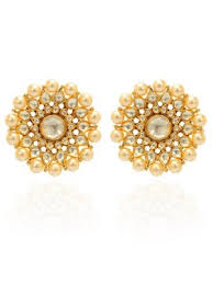 stud gold studs earrings stud earrings in gold plating with center