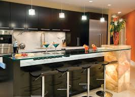 kitchen bar table height brown oak laminate wall back bar square