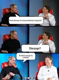 Bill Gates And Steve Jobs Meme - steve jobs i bill gates i think therefore i blog