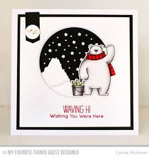1410 best crafty mft images on cards polar bears