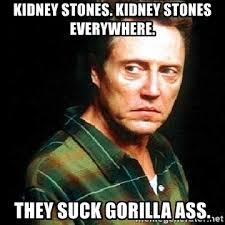 Kidney Stones Meme - kidney stones kidney stones everywhere they suck gorilla ass