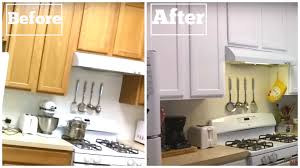 Diy Reface Kitchen Cabinets Paint Cabinets White For Less Than 120 Diy Paint Cabinets