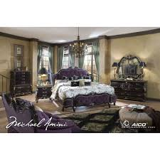 Mansion Bedroom Furniture Sets by Lavelle Dark Truffle 4pc King Size Mansion Tufted Bedroom Set By