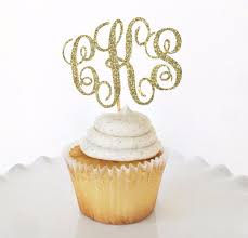 monogram cupcake toppers monogram cupcake toppers set of 24 gold glitter party decor table