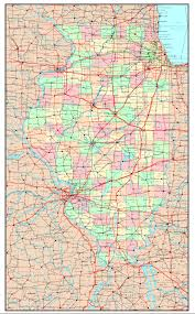 Elgin Illinois Map by Illinois Political Map