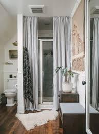 curtains for glass doors hide ugly shower doors bathroom pinterest shower doors