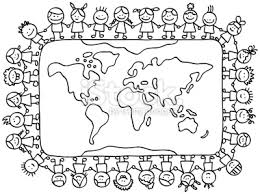 childreno around the world christmas coloring page coloring page