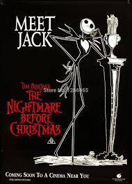 the nightmare before christmas movie poster jack tim burton print