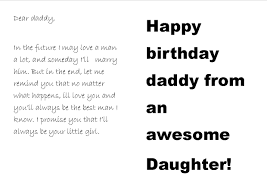 the sort of birthday card every father of a young dreams of