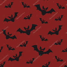repeating background halloween halloween seamless pattern flying bats on red sky background