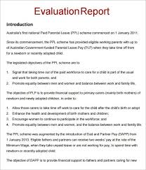 Paradise Of The Blind Pdf Sample Evaluation Report Evaluation U0026 Planning Canvas Project
