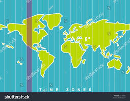 Map Of World Time Zones by World Map Time Zones Vector Select Stock Vector 5218405 Shutterstock