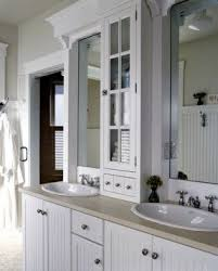 Double Vanity With Tower Storage Towers For Bathrooms Foter