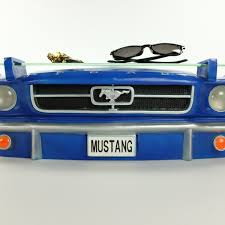 ford mustang front 1964 car shelf with lights 3d garage decor