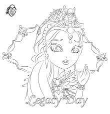 ever after high coloring pages raven queen raven queen colouring