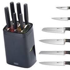 what is a set of kitchen knives new joseph joseph lock block self locking knife set kitchen knives