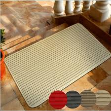 Bathroom Floor Mats Rugs 60x40cm Bathroom Absorbent Anti Slip Floor Mat Linen Carpet Stripe