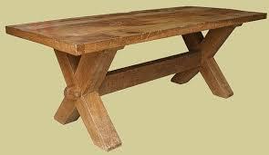 x leg dining table x leg trestle table handmade heavy oak dining table bespoke oak