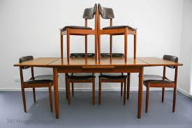 Modern Wood Dining Room Table Mid Century Chiswell Dining Table U0026 Chairs X 6 Teak Vintage Retro