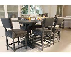 bernhardt dining chairs 7pc belgian oak gathering table and