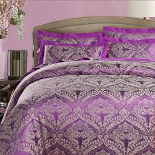 Jacquard Bedding Sets Luxury 4 Jacquard Bedding Sets Simple Purple