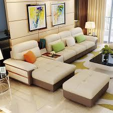 Leather Sofa Fabric Simple Sofa Fabric Sofa Multifunction Washable Leather Sofa Living