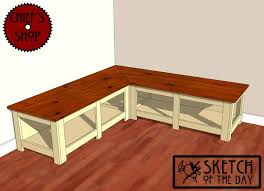 Build A Toy Box Bench Seat by Build Wooden Corner Bench Plans Diy Pdf Wood Composite Materials