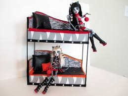 how to make a werecat twins bunk bed tutorial monster high youtube