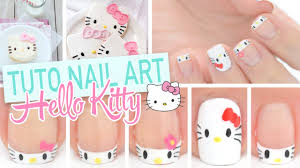 nail art kawaii hello kitty youtube