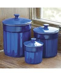 stoneware kitchen canisters new savings on chefs stoneware canister set of 3 blue gradient