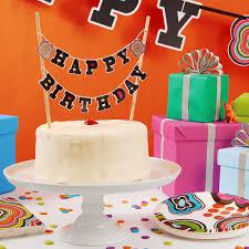 cake banner topper mod birthday cake banner topper bull