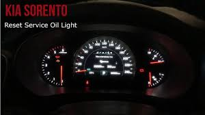 kia sedona tpms light kia sorento reset service light youtube