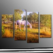 14 years manufacturer modern white horse oil painting poster print