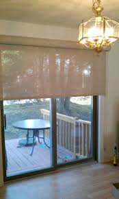 Patio Door Designs by Solar Shades For Sliding Patio Doors Solar Roller Shade On A