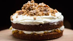 cuisine masterchef carrot cake with candied walnuts and a walnut crumb