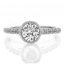 bezel set engagement ring bezel set engagement ring boston jewelers freedman jewelers