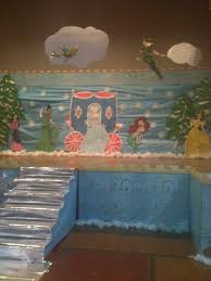 a cinderella christmas play stage decoration classroom