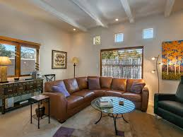 peaceful renovated one level townhome with 2 car garage santa fe