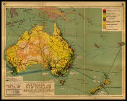 Australian Map Of The World by An Antique Wall Map Of Australia U0026 New Zealand Commercial