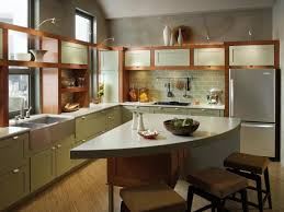 Cherry Kitchen Cabinets With Granite Countertops White Granite Countertop Built In Stoves Oven Glass Door Wall