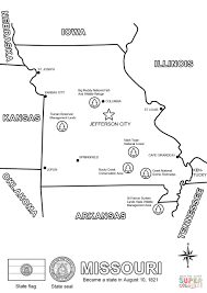 missouri map coloring page free printable coloring pages