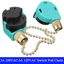 ceiling fan light pull chain switch 3a 250vac 6a 125vac ceiling fan light lamp pull chain switch