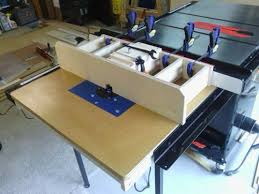 table saw router table workshop solution table saw router table extension by delain