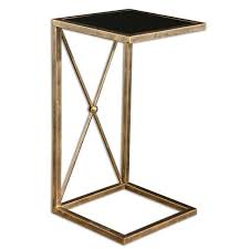 Gold Side Table Uttermost Zafina Gold Side Table Free Shipping Today Overstock