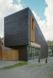 Modern Multi Family House Plans Minimalist High End Facade Design Small Building That Has Wooden