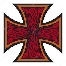cross tatoo iron cross tattoo style tribal style u2014 stock vector